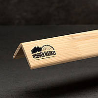Куточок гладкий зовнішній сосна (смерека) 40*40*2000 мм вищий сорт