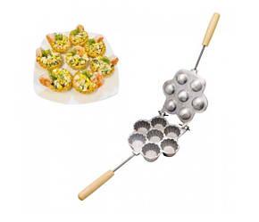 Форма для выпечки больших корзинок тарталеток и кексов - Ласунка 7 корзинок