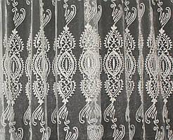Остаток (1,8х2,8м.) ткани с рулона. Тюль фатин с вышивкой. Цвет шампань. Код 123ту 00-553
