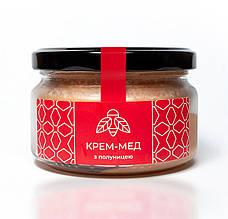 Крем мед с клубникой 300 г ТМ Ahimsa