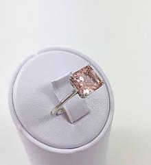 Кольцо серебряное с морганитом Т3790/м