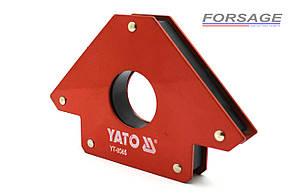 Магнитная струбцина для сварки YATO YT-0865 34 кг Ø46 мм (45°, 90°, 135°)
