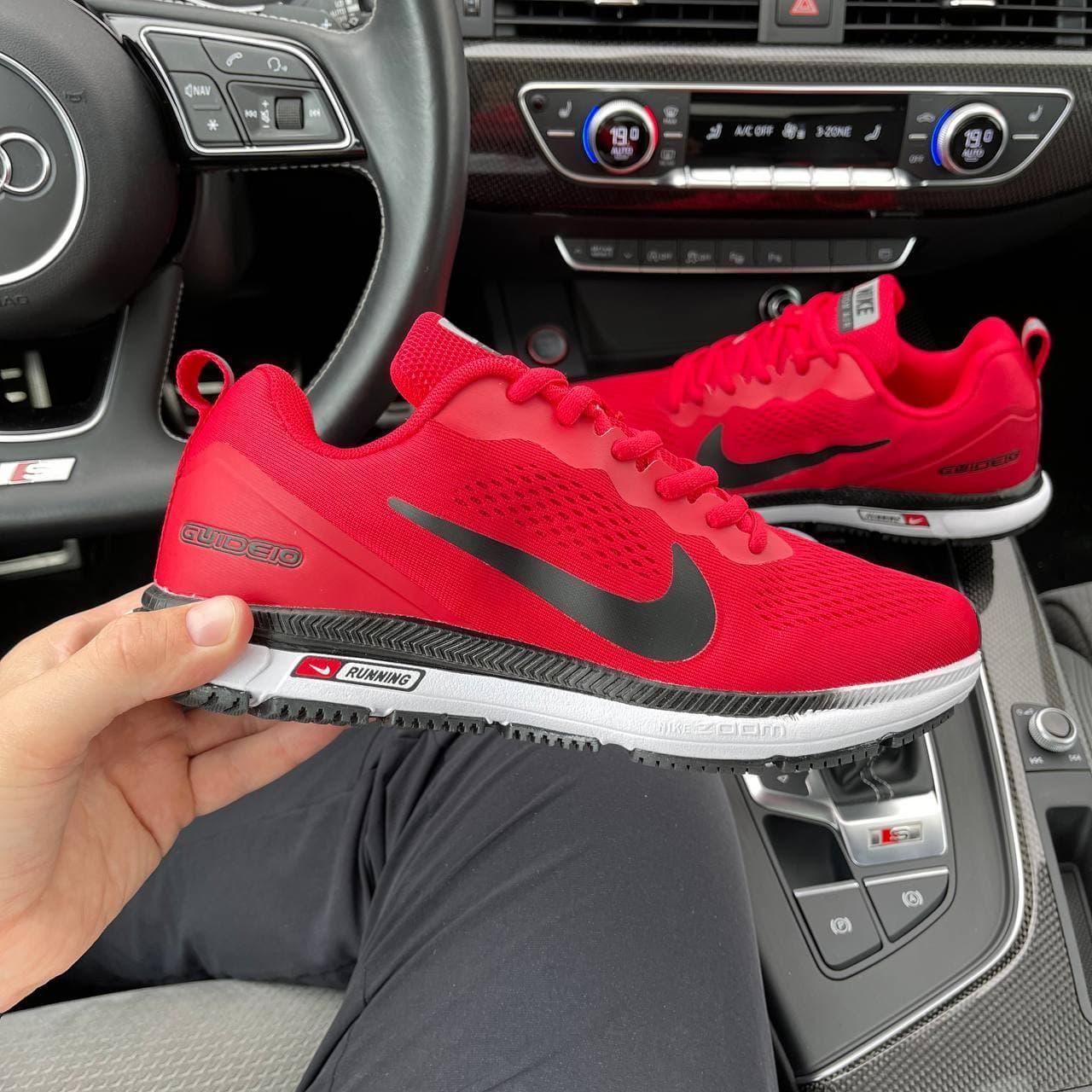 Мужские кроссовки Zoom GUIDE 10 Red (красные с белым) DА1187 весенняя летняя качественная обувь