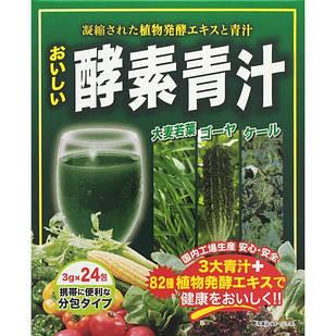 Japan Gals Аодзиру з листя ячменю, капусти кале і мормодики + 139 ферментованих рослин, 24 саші