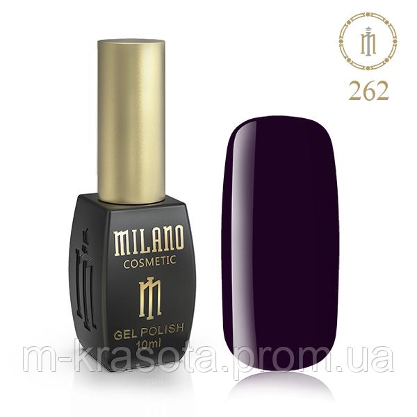 Гель Лак MILANO 10ml № 262 (Очень Глубокий Пурпурный)