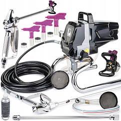 Аппарат для безвоздушной покраски 750Вт 1л/мин 200бар POWERMAT PM-KT-0504