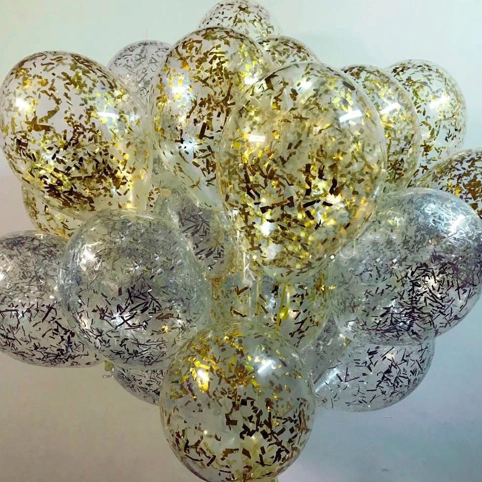 Воздушные шарики Gemar Кристалл Прозрачный с наполнением 10' (26 см) Gemar 100-00 1974