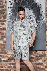 Батальний літній чоловічий костюм футболка і шорти