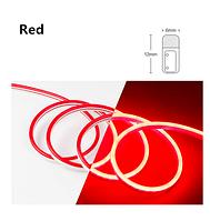 Светодиодный гибкий неон 12V, красный в цветной оболочке IP65