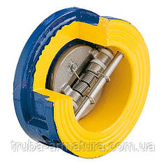 Клапан обратный подпружиненный двухстворчатый Zetkama DN 350 PN 1,0 МПа