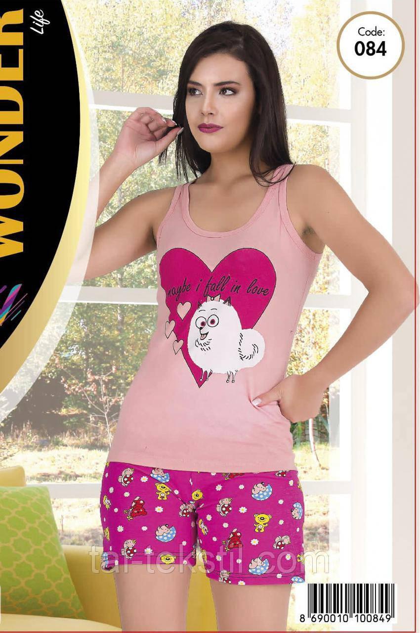 Домашній комплект майка з шортами якість бавовна з лайкрою т. м NEW ANGEL № 084