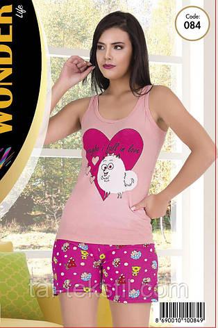 Домашній комплект майка з шортами якість бавовна з лайкрою т. м NEW ANGEL № 084, фото 2