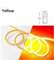 Светодиодный гибкий неон 12V, желтый в цветной оболочке IP65