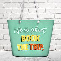 Пляжная сумка Malibu Life is short 50х36х15 см (MAL_20J045)
