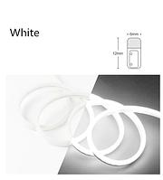 Светодиодный гибкий неон узкий 12V, белый холодный IP65 6х12мм