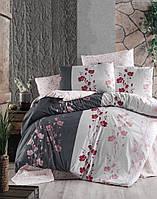 Постільна білизна Євро First Choice 200х220 бавовна ранфорс кольоровий Carmelia anthracite