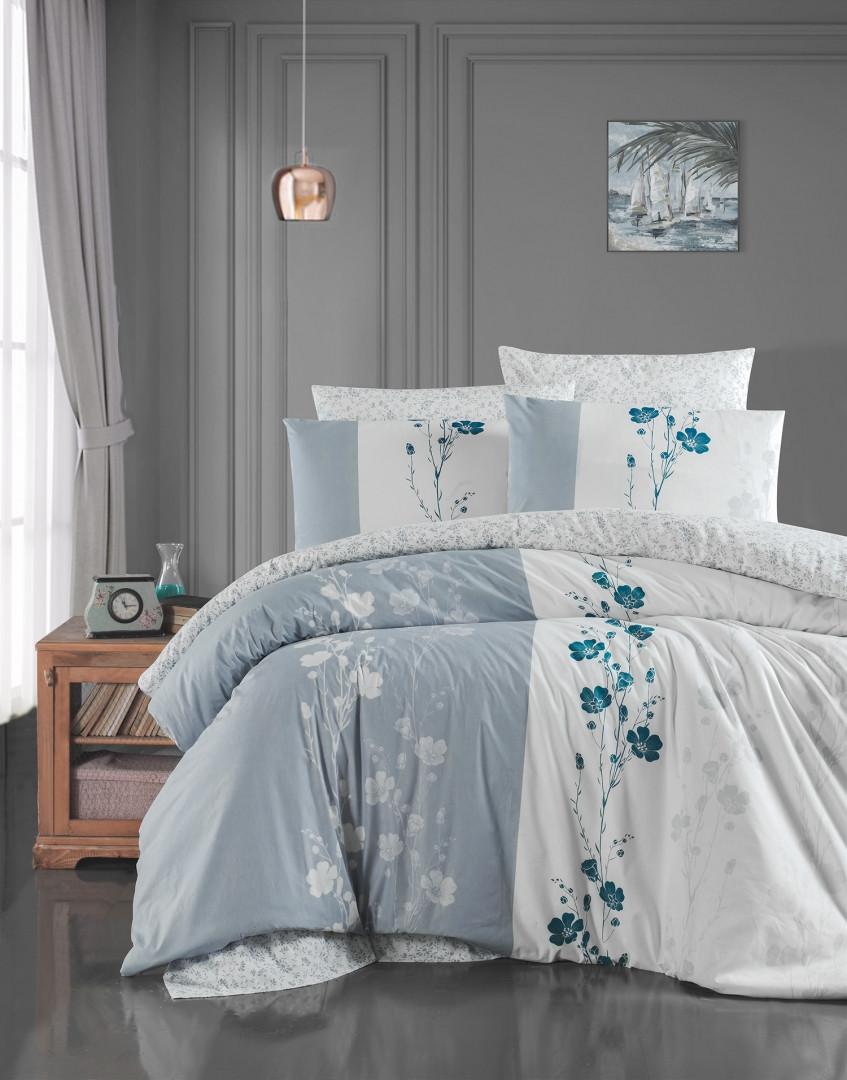 Постільна білизна Євро First Choice 200х220 бавовна ранфорс кольоровий Carmelia grey