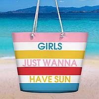 Пляжная сумка Malibu Girls just wanna have sun 50х36х15 см (MAL_20J042)
