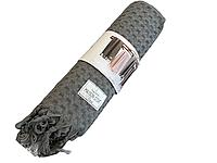 Банное полотенце Maison Dor Ancelina Grey хлопок 70-140 см серое