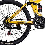 """Велосипед складной 26\"""" BeGasso Soldier рама 17\"""" желтый цвет на рост 155-185 см, фото 4"""