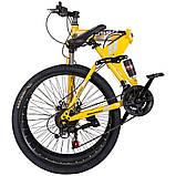 """Велосипед складной 26\"""" BeGasso Soldier рама 17\"""" желтый цвет на рост 155-185 см, фото 6"""