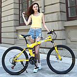 """Велосипед складной 26\"""" BeGasso Soldier рама 17\"""" желтый цвет на рост 155-185 см, фото 7"""