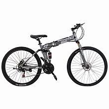 """Велосипед складной 26"""" BeGasso Soldier  рама 17"""" серый цвет на рост 155-185 см"""
