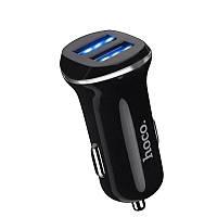 Автомобильное зарядное устройство Hoco Z1 2USB 2.1A Black