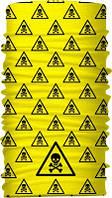 Бафф бандана-трансформер Небезпека жовтий