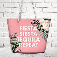 Пляжная сумка Malibu Fiesta siesta tequila repeat 50х36х15 см (MAL_20J039)