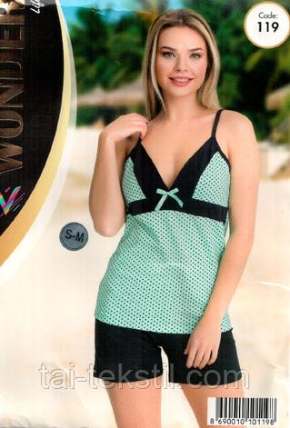 Домашний комплект майка с шортами качество хлопок с лайкрой т.м NEW ANGEL № 119, фото 2