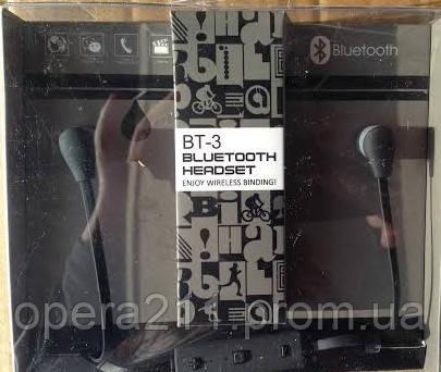 Беспроводные Bluetooth наушники ВТ-3 черные