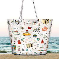 Пляжная сумка Malibu Time to travel 50х36х15 см (MAL_20J037)