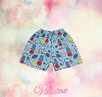 Детские шорты цветные для мальчика кулир