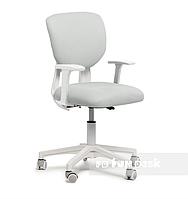 Детское регулируемое кресло Buono Grey с подлокотниками от 5 до 15 лет ТМ FunDesk Серый