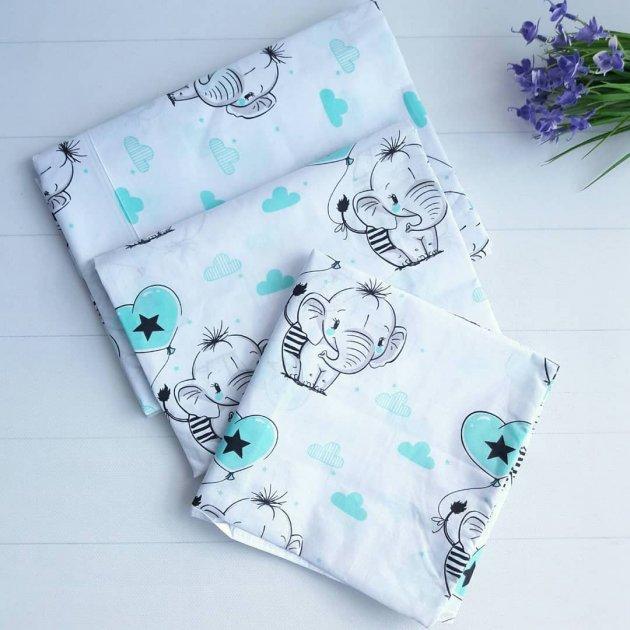 Змінне постільна білизна в ліжечко Слоник Комплект Дитячої Постільної Білизни в ліжечко Манеж