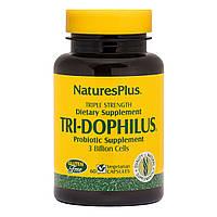 Пробиотики Тройная Сила, Tri-Dophilus, Nature's Plus, 60 Вегетарианских Капсул