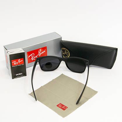 Сонцезахисні окуляри RAY BAN Wayfarer поляризаційні антиблікові UV400 (арт. 2140P) чорні матові, фото 2
