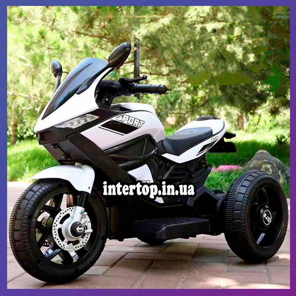 Дитячий електро мотоцикл на акумуляторі BMW M 4454 для дітей 3-8 років білий