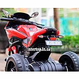 Дитячий електро мотоцикл на акумуляторі BMW M 4454 для дітей 3-8 років білий, фото 3