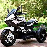 Дитячий електро мотоцикл на акумуляторі BMW M 4454 для дітей 3-8 років білий, фото 4