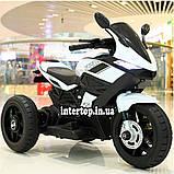 Дитячий електро мотоцикл на акумуляторі BMW M 4454 для дітей 3-8 років білий, фото 5