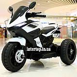 Дитячий електро мотоцикл на акумуляторі BMW M 4454 для дітей 3-8 років білий, фото 6