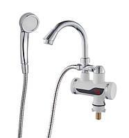 Проточный водонагреватель ванная SDR-B07STP гусак ухо, гайка (с датчиком темп.)
