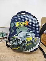 Школьный каркасный ранец с машиной 31х25х13
