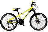 """Супер надійний і перевірений підлітковий велосипед 24"""" TITAN PORSCHE DD (21 speed, Shimano, напівавтомати), фото 2"""