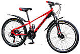 """Супер надійний і перевірений підлітковий велосипед 24"""" TITAN PORSCHE DD (21 speed, Shimano, напівавтомати), фото 3"""