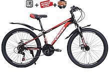"""Подростковый велосипед CROSS FOCUS 24""""  (21 speed, Shimano, полуавтоматы)"""