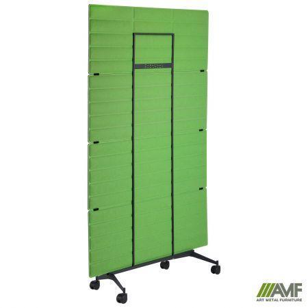 Перегородка фетровий мобільна 1124х1750 чорний графіт фетр зелений