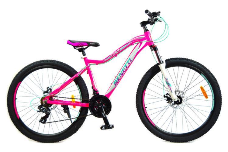 "Велосипед BENETTI Giro DD 27.5"" розовый с бирюзовым"